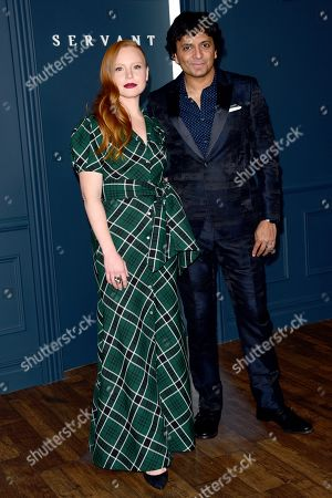 Lauren Ambrose and M Night Shyamalan