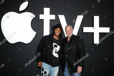 BROOKLYN, NEW YORK - November 19: Saquon Barkley and Steve Tisch, Executive Producer, attend 'Servant' New York Premiere at BAM Howard Gilman Opera House on November 19, 2019 in Brooklyn. ÒServantÓ premieres exclusively on Apple TV+ on November 28.
