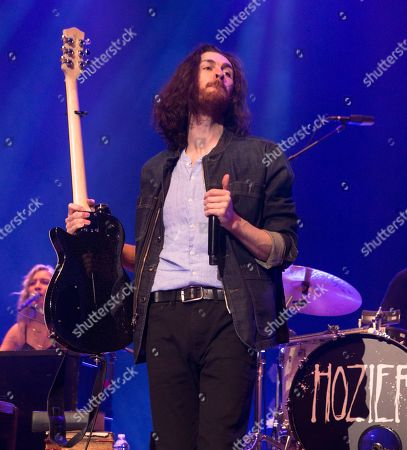 "Stock Photo of Hozier performs in concert during his ""Wasteland, Baby! Tour"" at The Met, in Philadelphia"