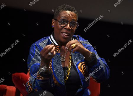 """Gina Yashere of """"Bob Hearts Abishola,"""" takes part in the insightful panel discussion """"Immigration on Television: Stories from America"""" presented at the Wolf Theatre, at the Saban Media Center in North Hollywood, Calif"""