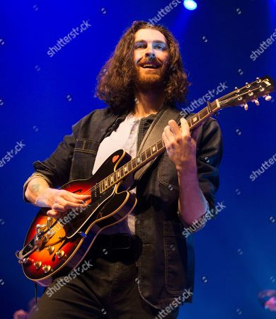 "Stock Image of Hozier performs in concert during his ""Wasteland, Baby! Tour,"" at The Met, in Philadelphia"
