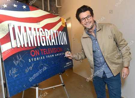 """Jacob Soboroff, NBC and MSNBC News Correspondent, took part in the panel discussion """"Immigration on Television: Stories from America"""" presented at the Wolf Theatre, at the Saban Media Center in North Hollywood, Calif"""