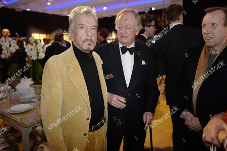 Stock Photo of Nicky Haslam, Andrew Parker Bowles and David Dawson