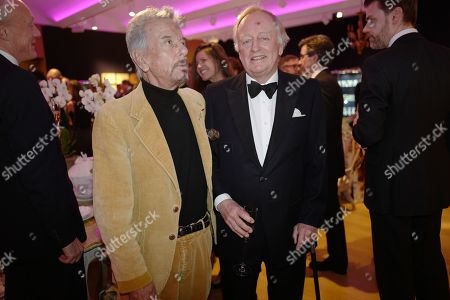 Nicky Haslam and Andrew Parker Bowles