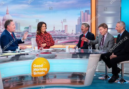 Stock Picture of Piers Morgan, Susanna Reid, P. J. O'Rourke, Andrew Pierce and Kevin Maguire