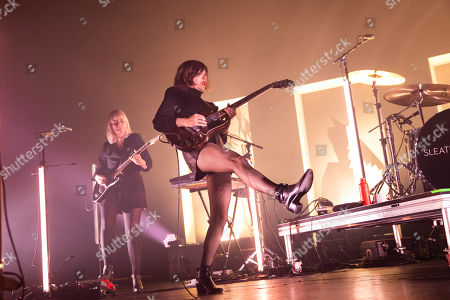 Editorial image of Sleater-Kinney in concert at The Fox Theater, Oakland, California, USA - 17 Nov 2019