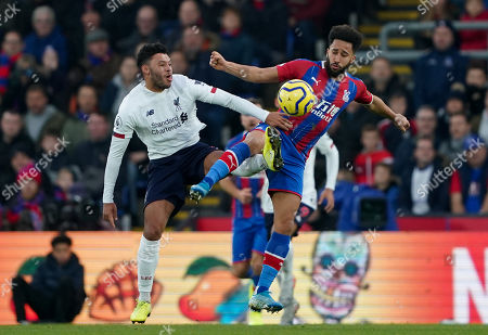 Andros Townsend of Crystal Palace and Alex Oxlade Chamberlain of Liverpool