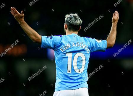 Stock Photo of Sergio Aguero of Manchester City