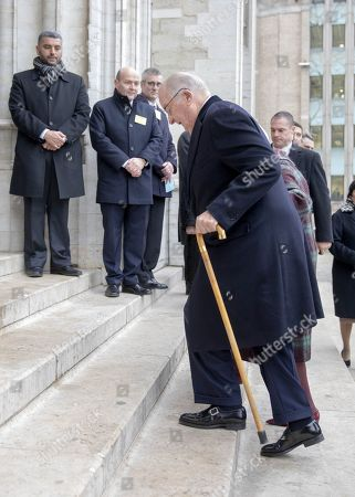 King Albert II attends the Te Deum mass, on the occasion of the King's Feast (Koningsdag), at the Saint Michael and St Gudula Cathedral (Sint-Michiels- en Sint-Goedelekathedraal), in Brussels.