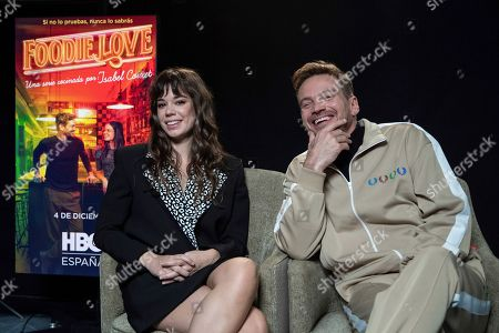 Laia Costa (L) and Argentine Guillermo Pfening pose during the presentation of film director's Isabel Coixet first TV series 'Foodie Love' in Madrid, Spain, 20 November 2019. The production will be premiered in HBO Spain platform on the upcoming 04 December.