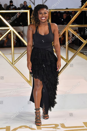 Clara Amfo attends the Charlie's Angels UK Premiere in London. Charlie's Angels releases in UK cinemas on the 29 the November.