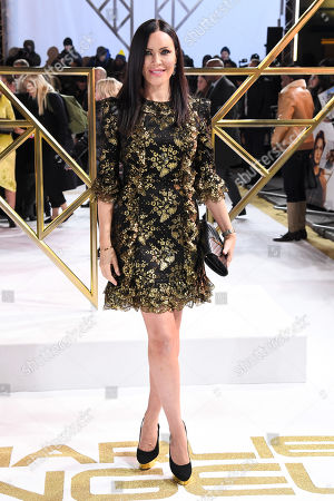 Linzi Stoppard attends the Charlie's Angels UK Premiere in London. Charlie's Angels releases in UK cinemas on the 29 the November.