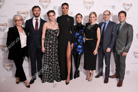 Elizabeth Cantillon, Sam Claflin, Kristen Stewart, Ella Balinska, Naomi Scott, Elizabeth Banks, Doug Belgrad and Max Handelman attend the Charlie's Angels UK Premiere in London. Charlie's Angels releases in UK cinemas on the 29 the November.