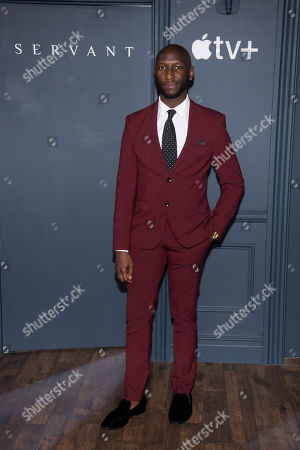 """Phillip James Brannon attends the Apple TV Plus world premiere of """"Servant"""" at BAM Howard Gilman Opera House, in New York. Photo by Charles Sykes/Invision/AP"""