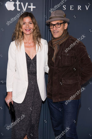"Stock Photo of Jill Hennessy, Paolo Mastropietro. Jill Hennessy and Paolo Mastropietro attend the Apple TV Plus world premiere of ""Servant"" at BAM Howard Gilman Opera House, in New York. Photo by Charles Sykes/Invision/AP"