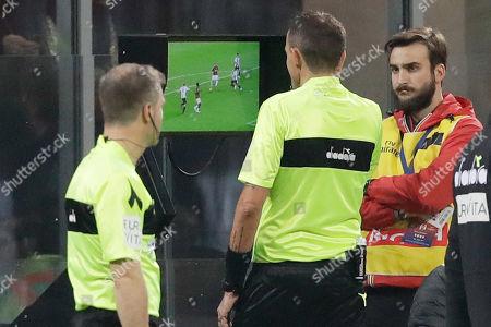 Editorial image of Referees VAR, Milan, Italy - 11 Nov 2018