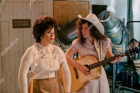 Megan Hilty as Patsy Cline and Jessie Mueller as Loretta Lynn