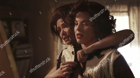Stock Picture of Janine Turner as Hilda Hensley and Megan Hilty as Patsy Cline