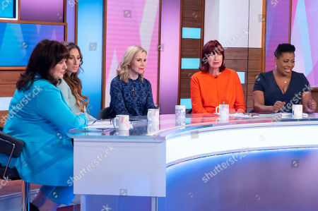 Coleen Nolan, Stacey Solomon, Sally Phillips, Janet Street-Porter and Brenda Edwards