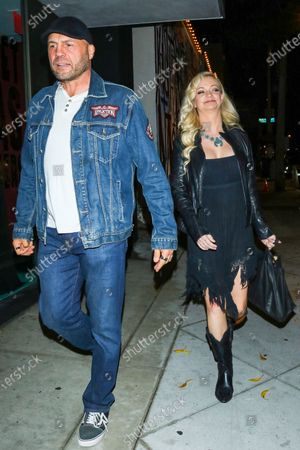 Editorial photo of Randy Couture and Mindy Robinson out and about, Los Angeles, USA - 19 Nov 2019