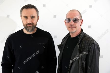 """Stock Photo of Noel Hogan, Fergal Lawler. Musicians Noel Hogan, left, and Fergal Lawler, of the Irish band The Cranberries, posing for a portrait in New York to promote their eighth and final album, """"In the End."""" The Cranberries picked up a Grammy nomination for best rock album on Wednesday, Nov. 20, which the remaining members created using unfinished vocals from singer Dolores O'Riordan, who died last year"""