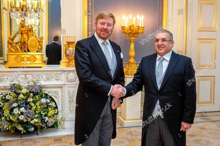 Presentation of the credentials of the ambassador of the Republic of Ecuador, Z.E. Andrés Terán Parral to King Willem-Alexander at Noordeinde palace in The Hague.