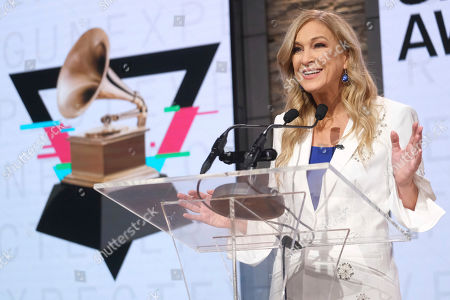Recording Academy President/CEO Deborah Dugan participates in the 62nd Grammy Awards nominations press conference at Studio 43 at CBS Broadcast Center, in New York