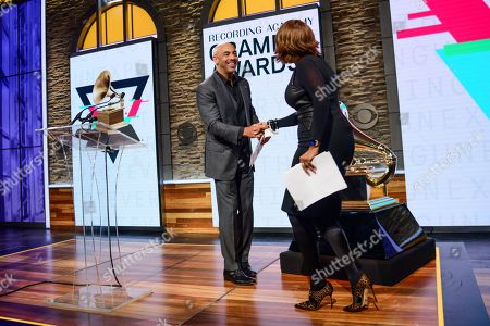 Harvey Mason Jr.., Chair of the Board of Trustees of the Recording Academy and Gayle King