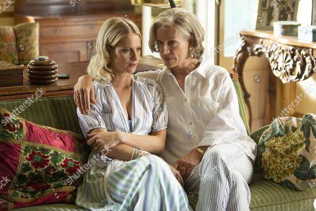 Poppy Delevingne as Daphne Eltham and Juliet Stevenson as Lady Cassandra Eltham