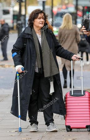 Stock Image of Activist Amy Dalla Mura arrives at Westminster Magistrates' Court: accused of harassing MP Anna Soubry party leader of Change UK - The Independent Group.