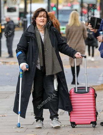 Stock Photo of Activist Amy Dalla Mura arrives at Westminster Magistrates' Court: accused of harassing MP Anna Soubry party leader of Change UK - The Independent Group.