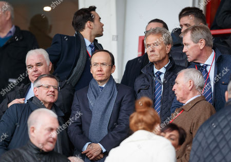 Rangers Director Julian Woldhart in the stand with fellow directors Alastair Johnston & Rangers Chairman Dave King, right.