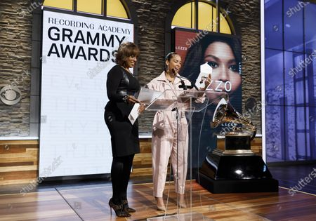 US television host Gayle King (L) and musician Alicia Keys (R) announce the nominees for the 62nd Grammy Awards in New York, New York, USA, 20 November 2019. Winners will be named at the 62nd Grammy Awards ceremony on 26 January 2020, which will be hosted by Keys.