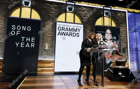 US television host Gayle King (L) and musician Bebe Rexha (R) announce the nominees for the 62nd Grammy Awards in New York, New York, USA, 20 November 2019. Winners will be named at the 62nd Grammy Awards ceremony on 26 January 2020, which will be hosted by US musician Alicia Keys.