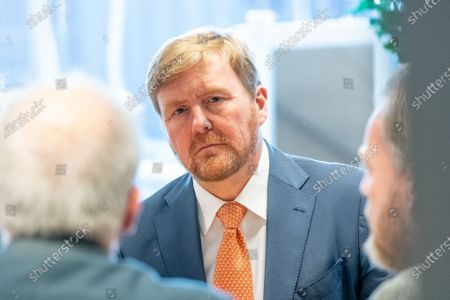 Stock Picture of King Willem-Alexander during a working visit to CVO Accent Practical Education