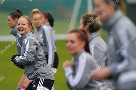 Stock Image of Fulham FC Women during the warm up,Olivia Cole warming up.