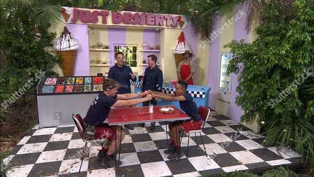 Bushtucker Trial, Just Desserts - Roman Kemp and Adele Roberts with Anthony McPartlin and Declan Donnelly