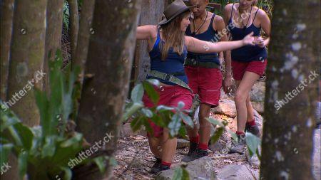 Stock Image of Creek Chat (Girls Aloud) - Nadine Coyle, Adele Roberts and Jacqueline Jossa