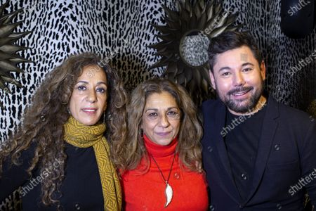 Spanish sisters Rosario and Lolita Flores and Miguel Poveda pose during an interview with Efe in New York, New York, USA, 19 November 2019. For the first time, Lolita and Rosario Flores join voices in a concert in New York, that will explain besides with the talent of Miguel Poveda in a show in which the trio bets by 'the authentic', that ensure at the end 'always places in front' to all the tendencies passengers.