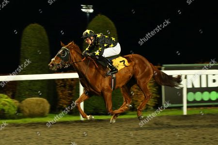 Stock Picture of YOU DON'T OWN ME ridden by Charles Bishop 1st The Bet @racingtv.com Nursery Handicap Stakes at Kempton Park Copyright: Ian Headington/racingfotos.com