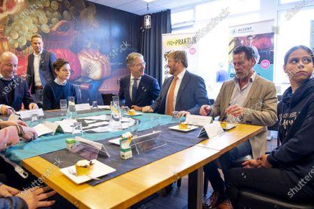 Editorial picture of King Willem Alexander visits CVO Accent Practical Education, Capelle aan den IJssel, Netherlands - 20 Nov 2019