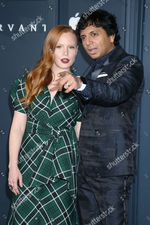 Stock Image of Lauren Ambrose and M Night Shyamalan