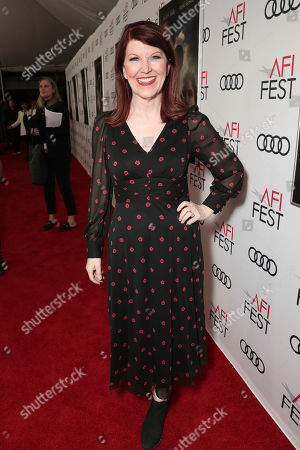 Kate Flannery attends Amazon Studios Aeronauts Los Angeles AFI Premiere during AFI FEST 2019 at TCL Chinese Theatre on in Hollywood, California