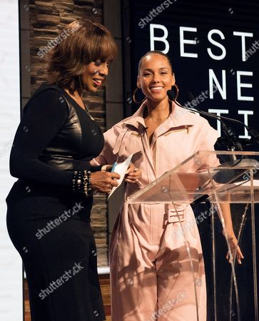 Gayle King and Alicia Keys