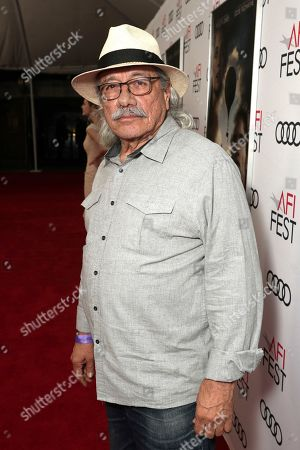 Edward James Olmos attends Amazon Studios Aeronauts Los Angeles AFI Premiere during AFI FEST 2019 at TCL Chinese Theatre on in Hollywood, California