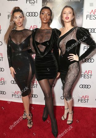 Tiffany Keller, Shae Scott and Gemma Vence attend Amazon Studios Aeronauts Los Angeles AFI Premiere during AFI FEST 2019 at TCL Chinese Theatre on in Hollywood, California