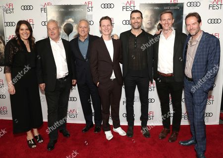 Co-Head of Movies Julie Rapaport, Louis Morin, Todd Lieberman, Tom Harper, David Hoberman Co-Head Movies, Amazon Studios Matt Newman and Christian Huband attend Amazon Studios Aeronauts Los Angeles AFI Premiere during AFI FEST 2019 at TCL Chinese Theatre on in Hollywood, California