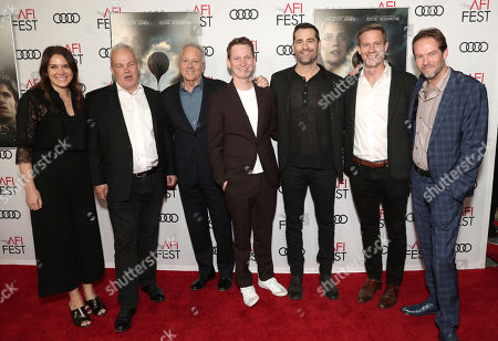 Stock Image of Co-Head of Movies Julie Rapaport, Louis Morin, Todd Lieberman, Tom Harper, David Hoberman Co-Head Movies, Amazon Studios Matt Newman and Christian Huband attend Amazon Studios Aeronauts Los Angeles AFI Premiere during AFI FEST 2019 at TCL Chinese Theatre on in Hollywood, California