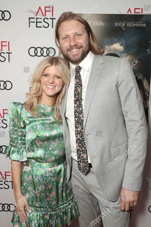Stock Image of Arden Myrin and Dan Martin attend Amazon Studios Aeronauts Los Angeles AFI Premiere during AFI FEST 2019 at TCL Chinese Theatre on in Hollywood, California