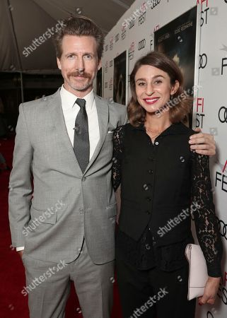 Josh Meyers and guest attend Amazon Studios Aeronauts Los Angeles AFI Premiere during AFI FEST 2019 at TCL Chinese Theatre on in Hollywood, California